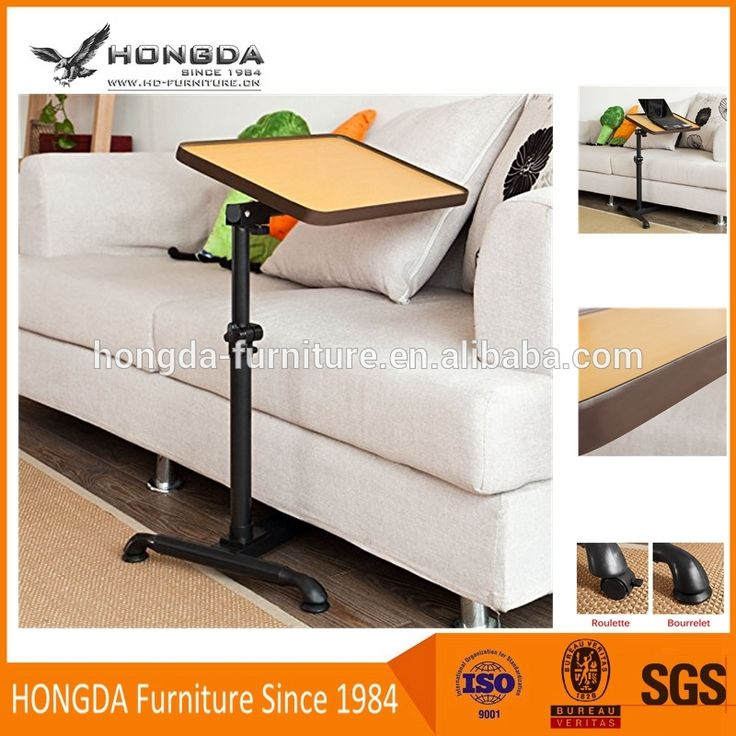 Adjustable Nursing Home Auto-Touch Overbed Table