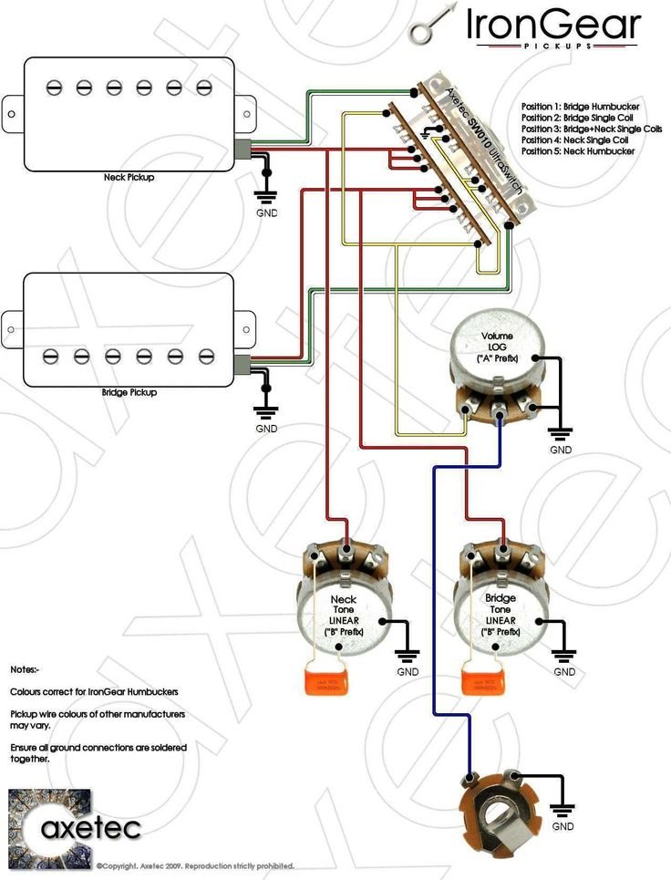 Unique Wiring Diagram For One Pickup Guitar  Diagram