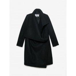 Wrap Coat in Black by OAK NYC