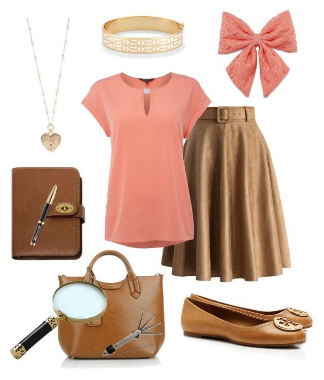 Nancy Drew by getsherlock on Polyvore featuring polyvore fashion style Ellen Tracy Chicwish Tory Burch Lauren Ralph Lauren Betsey Johnson Stella & Dot Decree Mulberry Mela Loves London Parker clothing