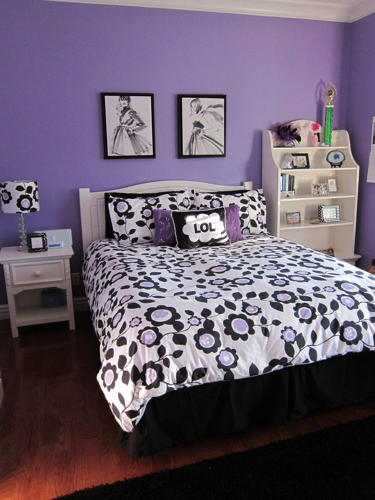 Black And White And Purple Bedroom 27 best teenager bedroom images on pinterest | home, children and