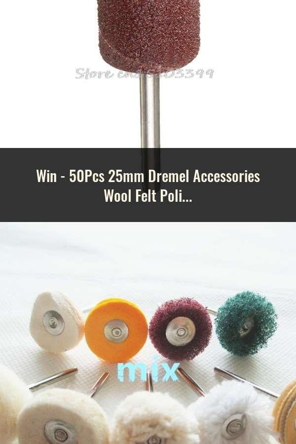 50Pcs 25mm Dremel Accessories Wool Felt Polishing Buffing