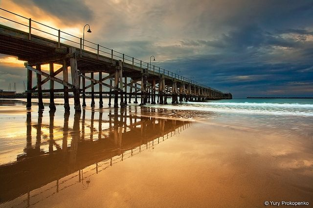 Coffs Harbour Jetty. In Coffs Harbour, NSW, Australia, by Yury Prokopenko