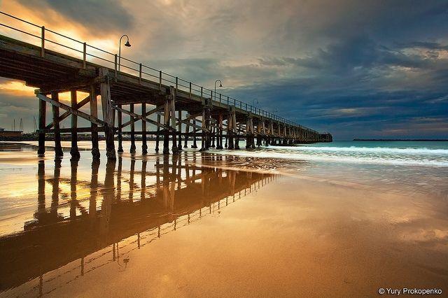Coffs Harbour Jetty. In Coffs Harbour, NSW, Australia, by Yury Prokopenko