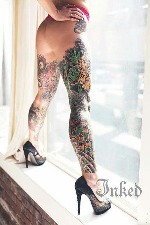 908 best images about tattooed women on pinterest sexy for Tattoos on legs female