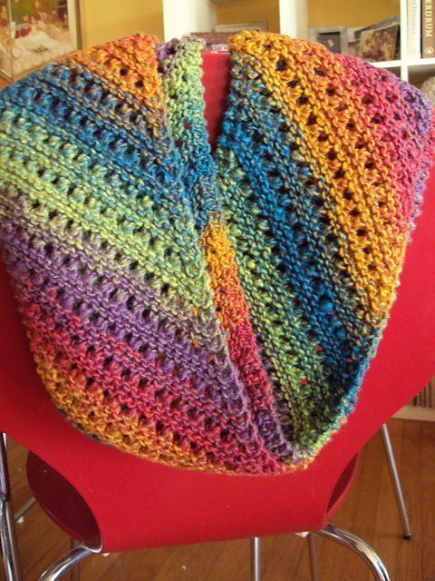 Free Pattern: Noro bias lace scarf by Susan Ashcroft.