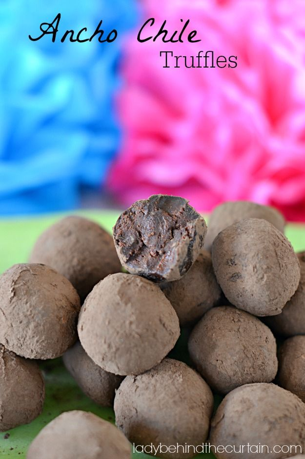 Ancho Chile Truffles-Chocolate with a kick! | Lady Behind The Curtain