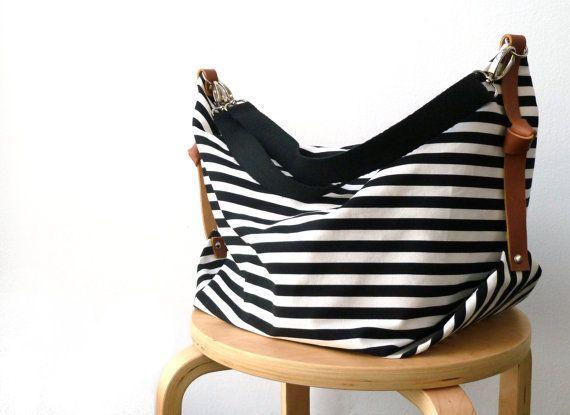 Maxi Bag, messenger bag, diaper bag Marina B&W