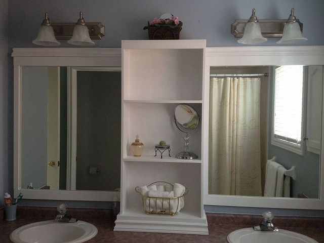 Revamp That Large Bathroom Mirror Bathroom Ideas Home