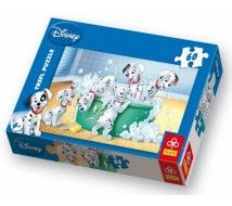 Trefl 17154 - 101 kiskutya fürdik - 60 db-os puzzle