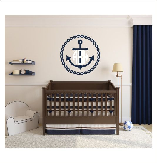 Unique Monogram Wall Decals Ideas On Pinterest Personalized - Monogram wall decal for nursery