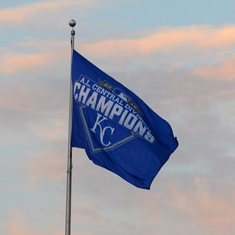 The AL Central Champions flag is now flying high at #TheK! #TakeTheCrown