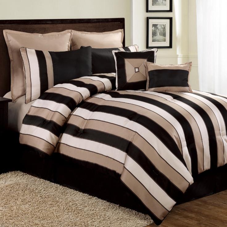Clay + Cotton 8-Piece Carlton King Comforter Set In Black