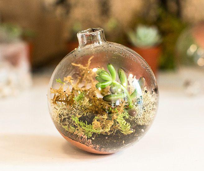 DIY Terrarium Ornaments - How to Make Ornaments Into Terrarium Planters - Elle