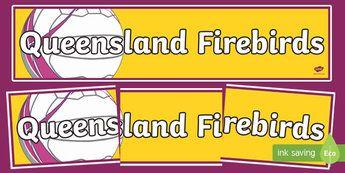 Queensland Firebirds Netball Display Banner-Australia