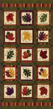 """Rustling Leaves Fabric Panel 24"""" x 44"""" For Fall / Autumn Quilt or Craft on Etsy."""