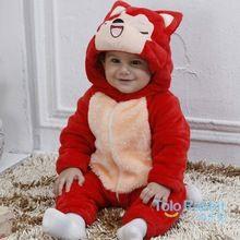 sonbahar kış bebek giysileri pazen çocuk giysileri karikatür hayvan kız tulum arabacılarla bebek tulum bebek giyim ücretsiz nakliye(China (Mainland))