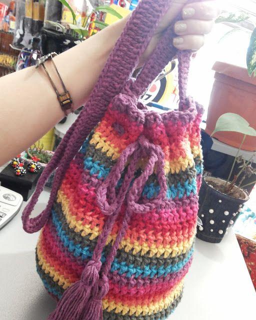 Bolsa De Pano Artesanato : Canto do pano artesanato bolsa saco croch? projetos