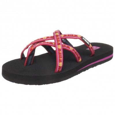 Factory Direct Teva Olowahu Womens Low Thong Sandals Waterfall Navy Multi WI