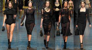 Malé čierne šaty od Dolce&Gabbana