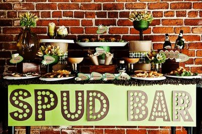 ahhh.... my Irish girl dream!  I'd set it up differently but love the idea of a spud bar!