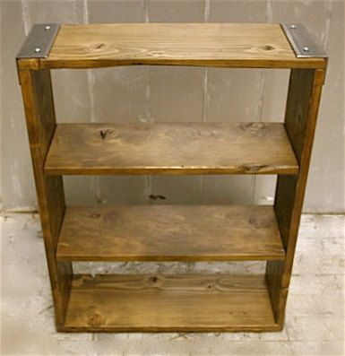 BOOKCASES Made to Order of Recycled Steel by BrooklynReclamation, $295.00