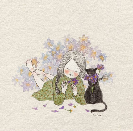 Black Flower Watercolor Art By Tae Lee: 17+ Best Images About Lee S. Hee On Pinterest