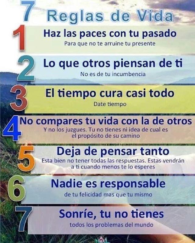 7 Reglas para regir tu vida  ___________________________________________ GO! NAMASTE ॐ #pienso_en_positivo #citas #hooponopono #emprendedores #emprende #vive #yoga #felicidad @by.piensoenpositivo . Compártela Etiqueta a Otros PIENSA EN POSITIVO VIVE EN POSITIVO