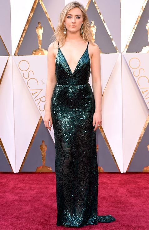 The Best Oscars Gowns of 2016 | People - Saoirse Ronan in Calvin Klein Collection