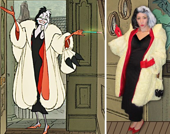 well tomorrow is halloween and ive got another costume to share for some inspiration i made this cruella de vil costume a couple of years - Cruella Deville Halloween Costume Ideas