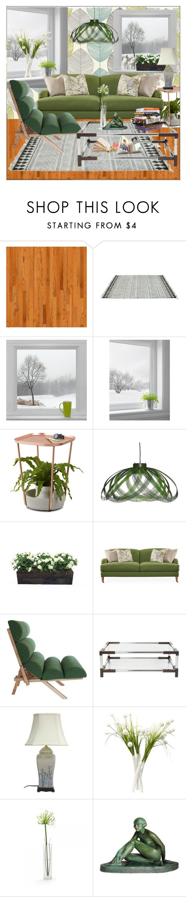 """""""Calm green on a winters day"""" by frenchfriesblackmg ❤ liked on Polyvore featuring interior, interiors, interior design, home, home decor, interior decorating, Ross & Brown, Umbra, Robin Bruce and Anna Sui"""