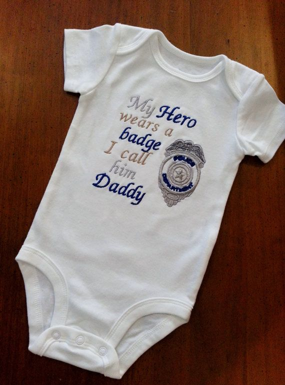 My Hero wears a badge I call him Daddy/her Mommy by GumballsOnline, $24.95