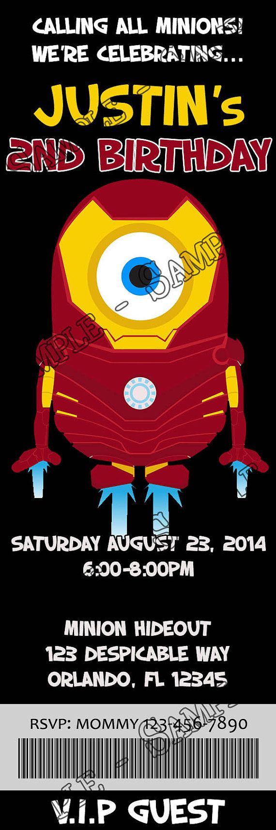 Google image result for http image spreadshirt com image server v1 - Avengers Minions Birthday Party Ticket By Cydesigncompany On Etsy