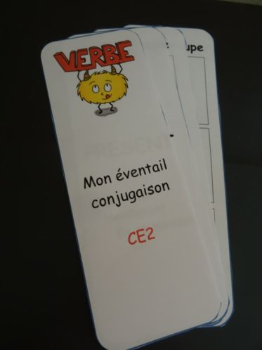 éventail mémo conjugaison CE2
