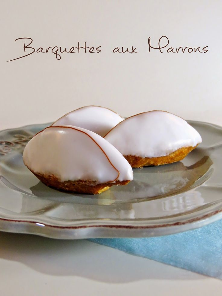 Barquettes aux marrons - Tartelettes sablées à la crème de marron, crème d'amande et glaçage au sucre