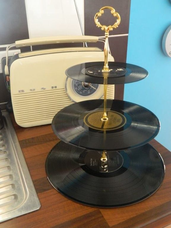 #Amazing Record cup cake stand #goodidea #inspiration