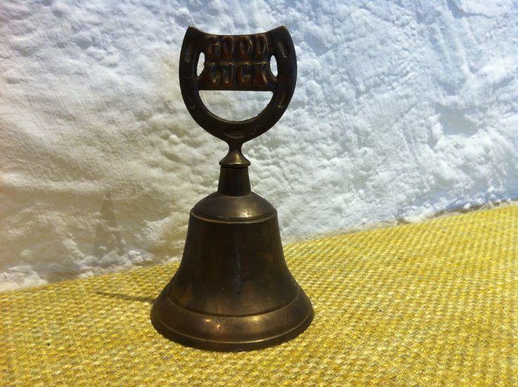 Vintage Made in India - Glocke - Beschriftet: Good Luck von Antikladen auf Etsy