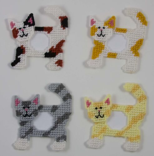 Cat Picture Frames Magnets Plastic Canvas Pattern   eBay
