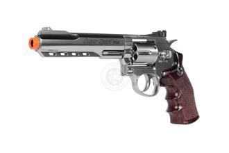 WG M702S Sport 7 Series CO2 Airsoft Revolver Pistol - SILVER - Dominate your opponents with this full-sized 1:1 scale CO2 revolver with six BB shells, functional hammer and rotating chamber!