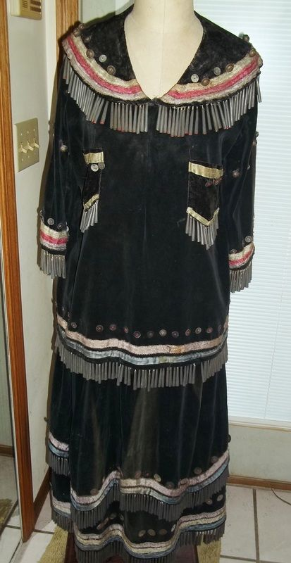 Antique Micmac Jingle Dress - How lovely! I would love to hear how it sounds to have it on...