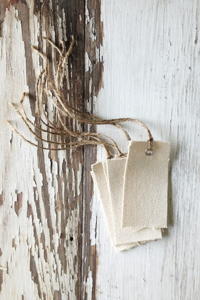 handmade canvas gift tags