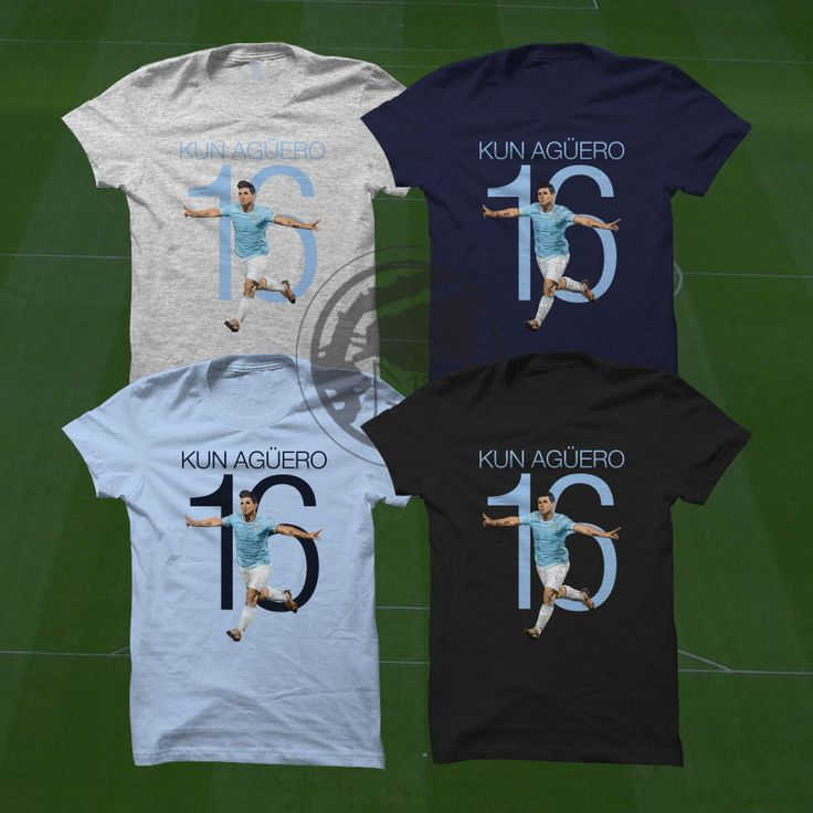 Sergio Aguero 16 Man City T-Shirt - Argentina Player - Size S to XXXL -Custom Apparel Football, Premier League, Manchester City by Graphics17 on Etsy