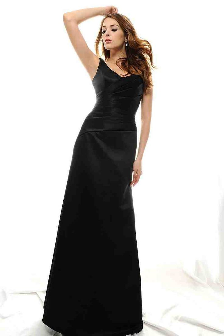 67 best long bridesmaid dresses images on pinterest dress long long black satin bridesmaid dresses ombrellifo Gallery