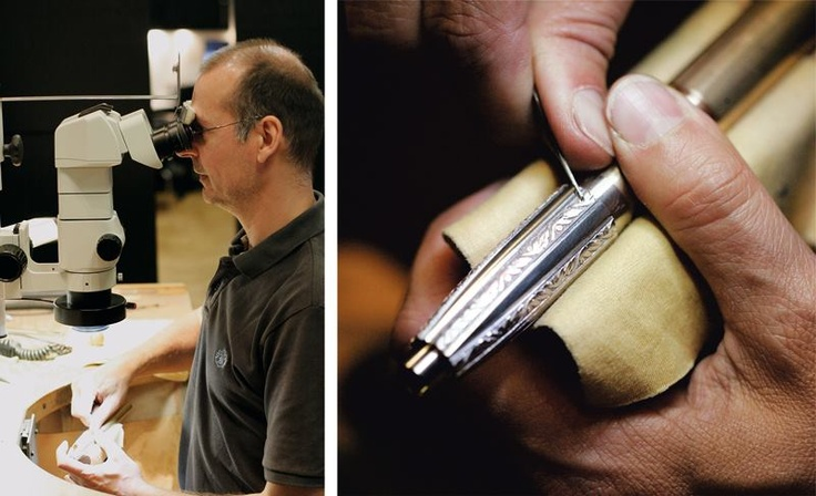 5. The legendary Laguiole pattern is hand engraved by a master craftsman on the silver /white gold inlays and rings.