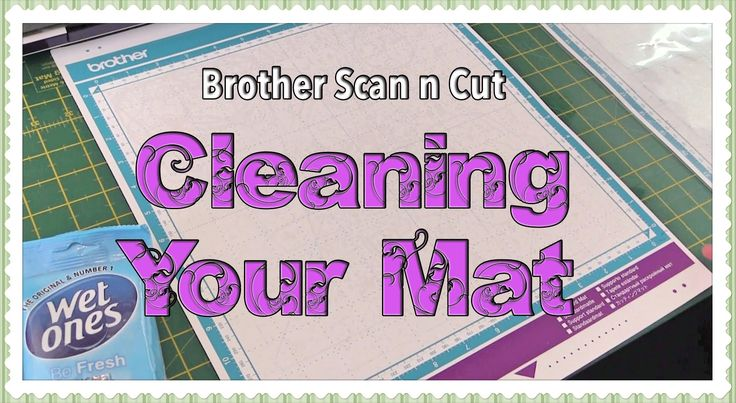 This video shows you how to clean your Brother Scan n Cut mat.
