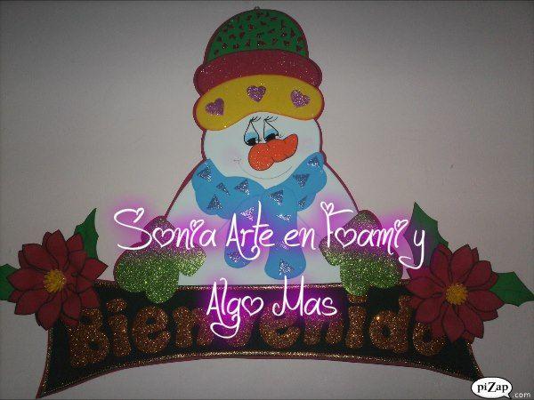 Decora tu hogar, taller o negocio con este precioso cartel de Navidad en goma eva para dar la bienvenida. Creditos, Sonia Arte en Foami y Algo Mas.…