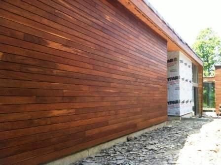 Rain screen hardwood siding ipe wood siding rainscreen for Sustainable wood siding