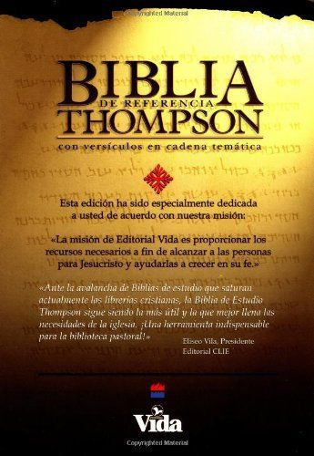 Bíblia de Referencia Thompson Piel Especial Negro by Zondervan. Save 37 Off!. $37.79. Publisher: Vida; Spanish edition (February 19, 1988). Reading level: Ages 18 and up