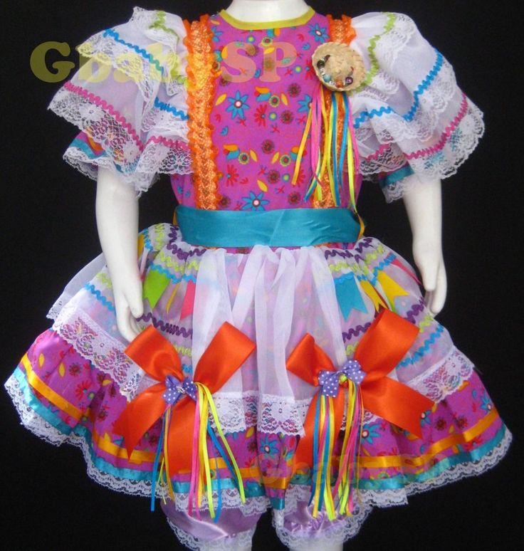 vestido caipira infantil 2 anos - Pesquisa Google