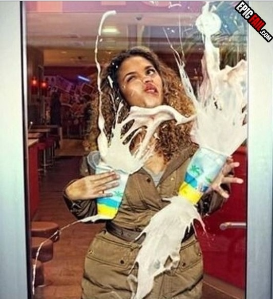 When You Walk Into A Glass Door With Milkshakes I Don T Think Those Are Going To Bring Any Boys The Yard